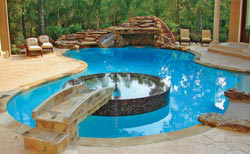 Custom built Houston pool and spa project - AQUA Magazine