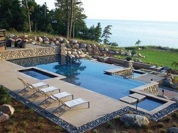 June 2011 AQUA Choice Award: A Geometric Pool And Spa Combo By Blue Water  Pools
