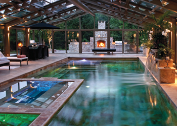 The greenest pool in canada aqua magazine - Pools in small spaces set ...