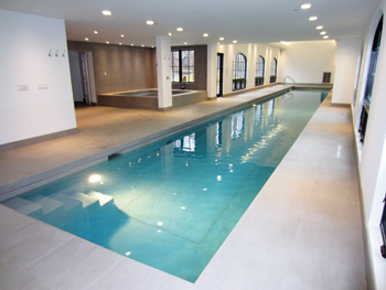 Inside Pool an inside job: builder outfits upscale home with indoor pool
