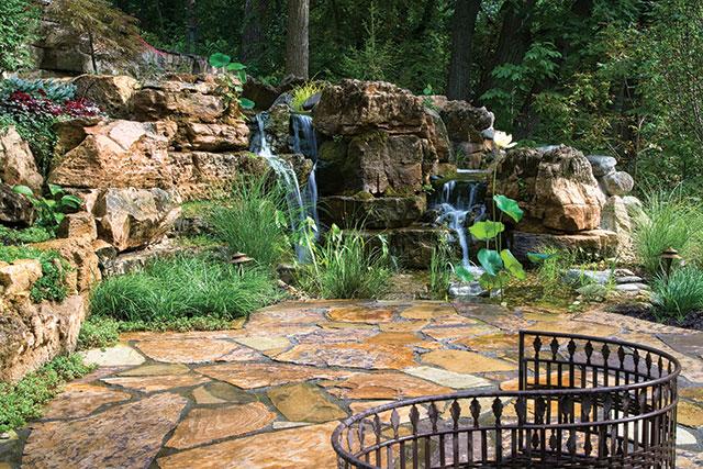 creating realistic backyard streams  waterfalls