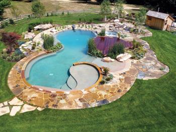 May 2012 aqua choice winner aqua magazine for Natural swimming pools a guide to building