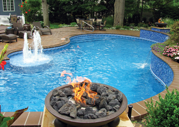 photo of pool with vinyl liner