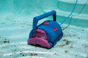 photo of automatic pool cleaner