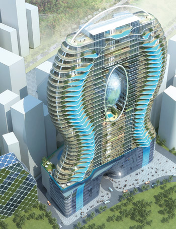 Photo Of Hotel With Swimming Pools On The Balconies
