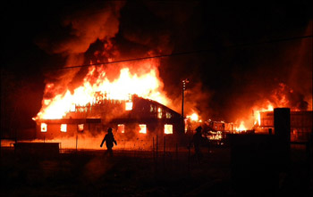 photo of Columbia Spa fire