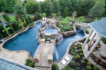 A lazy river runs through it aqua magazine for Pool design magazine