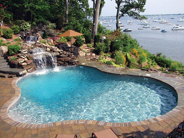 Slideshow package parade aqua magazine for Elaborate swimming pools