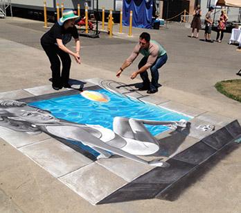 A Chalk Artist Tackles The Swimming Pool Aqua Magazine