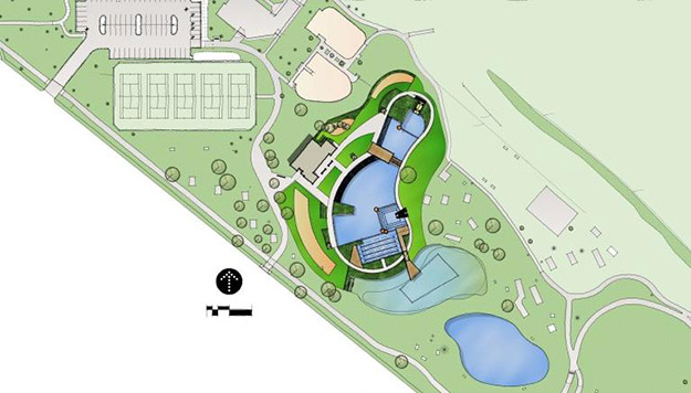 Bionova breaks ground on first public natural swimming for Swimming pool site plan