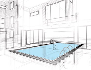 illustration of an indoor pool