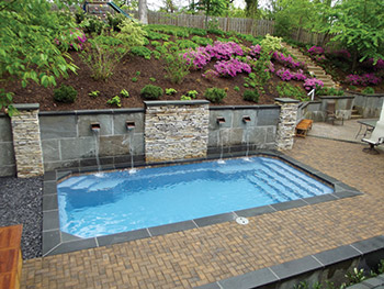 A Small Space Fiberglass Pool Installation Aqua Magazine