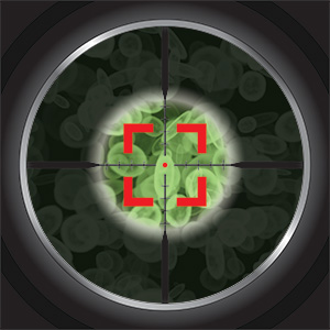 photo of germs in the crosshairs