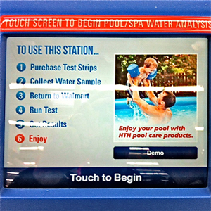 photo of the screen on water testing machine