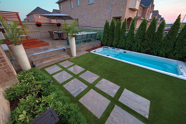 photo of children on a pool illusion carpet