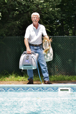 photo of a pool care specialist