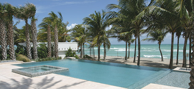 Reflecting the florida sunshine aqua magazine for Pool design miami
