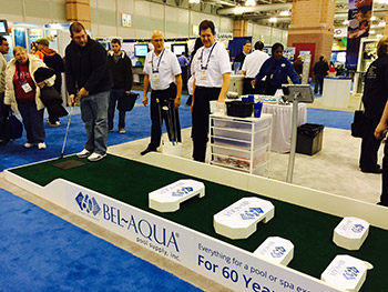 The Bel-Aqua booth features a fun golf challenge. Participants who got...</div>                </li>                         </ul>                             <div class=