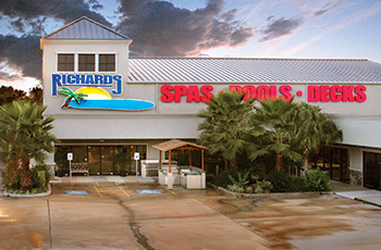 Photo Of A Pool Showroom. When JR Richards, CEO Of Richards Total Backyard  Solutions ...