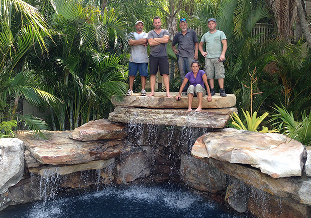 Pool builder makes waves in new reality show aqua magazine for Florida pool show 2015
