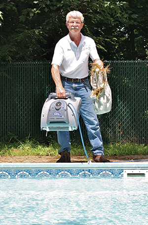 photo showing an automatic pool cleaner