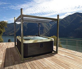 Covana Has Added The Evolution Model To Its Line Of Automated Gazebos That Cover Hot Tubs And Swim Spas Is Compatible With 7 8 Foot