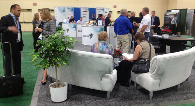 The Genesis booth at the 2013 PSP Expo. Photo courtesy of the PSP Expo.