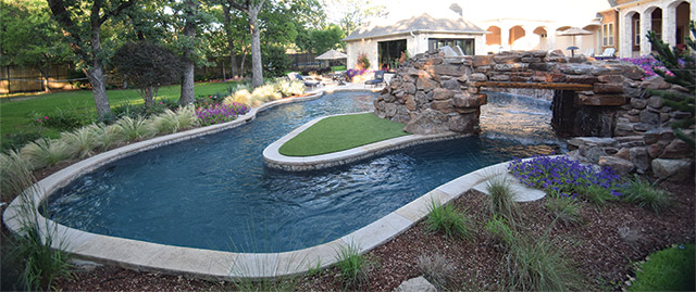 River Rock Landscape Designs Pool
