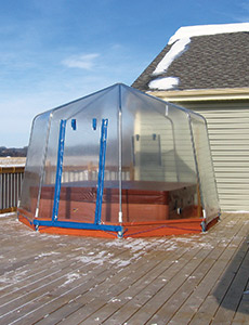 The Fabrico Spa Enclosure Is A Lightweight, Attractive Enclosure Perfect  For Year Round Protection From The Elements. It Keeps Cool Breezes And Rain  At Bay ...