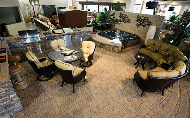 The Showroom At Imagine Backyard Living Illustrates The Many Ways Portable  Spas And Outdoor Furniture Can Intertwine.