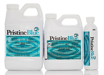 The PristineBlue Line Of Products Is A Complete Pool And Spa Care System.  The Cornerstone Product Is PristineBlue, A Highly Effective Algaecide And  ...
