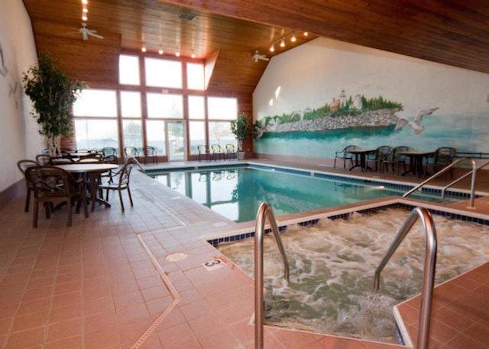 The indoor pool at Westwood Shores Waterside Resort.