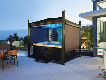 The Covana Is The Worldu0027s Only Fully Automated Spa Enclosure. With The  Single Turn Of A Key And No Effort, The Spa Cover Automatically Turns Into  A Gazebo.