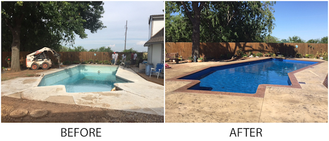 Photo of 2016 submission from Pool Tenders in Midwest City, Okla. - Tara Manufacturing's Ultimate Makeover Contest Now Open - AQUA Magazine