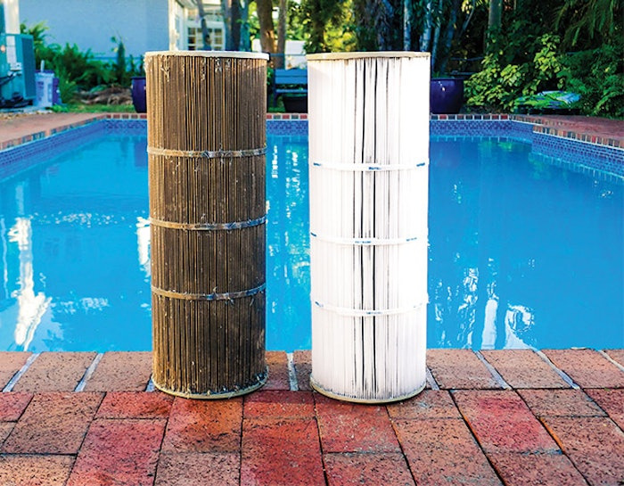 What is the difference between the filter on the left and the filter on the right? A good long soak in a solution designed to loosen oils, grease and crusted debris, followed by a thorough rinse.