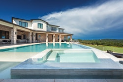 Category: Elevated Pool and/or Spa Structure By: Cascade Custom Pools, Austin, Texas