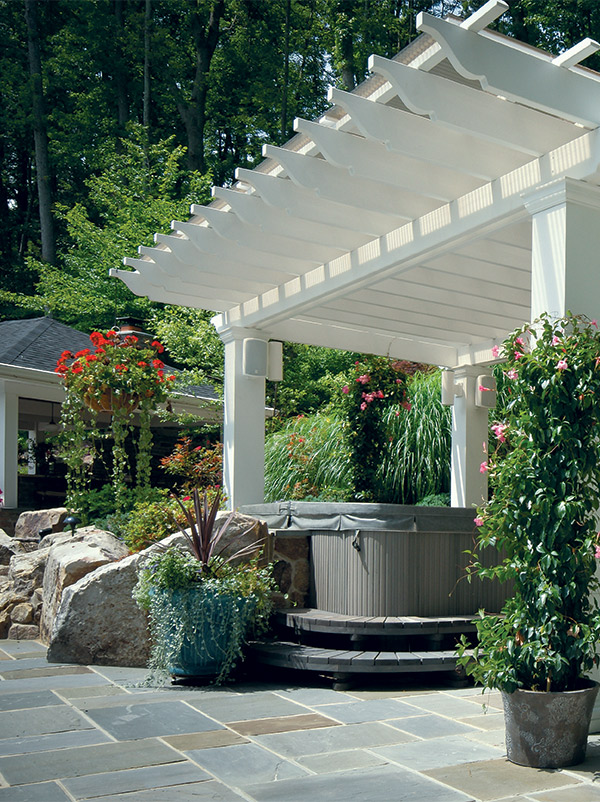 Another Reason Customers Are Excited About Pergolas: Theyu0027re A Great Way To  Show Off A Hot Tub.