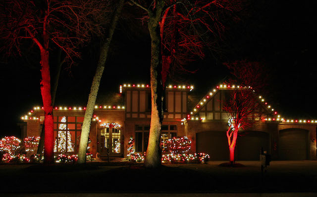 Swapping the Pool Net for Holiday Lights