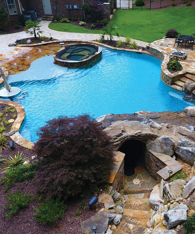 Contradiction All Are Words That Describe This Impressive Design By Bradley Renken President Of Hearthstone Luxury Pools Outdoors In Marietta Ga